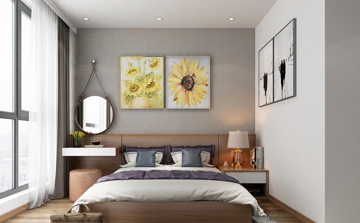 Trần phòng ngủ nên thiết kế đơn giản trong phong thủy căn hộ chung cư để tạo cảm giác thoải mái