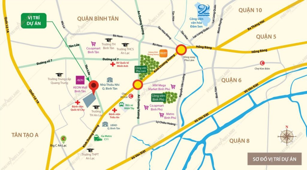 AIO City sở hữu vị trí vô cùng tiềm năng