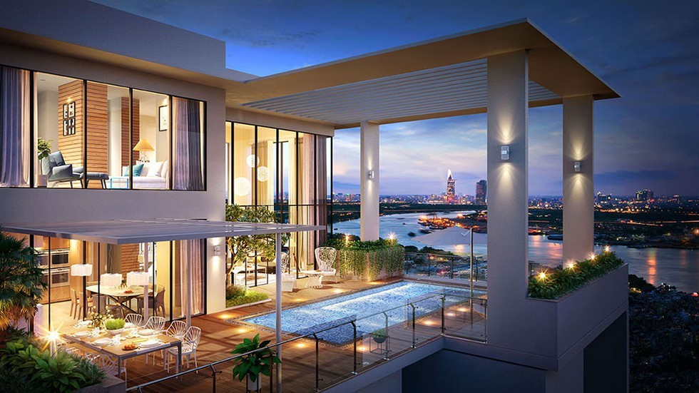 Căn hộ Sky Villa là loại căn hộ đắt giá nhất hiện nay